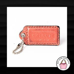 2″ Medium COACH PINK SALMON PATENT LEATHER KEY FOB
